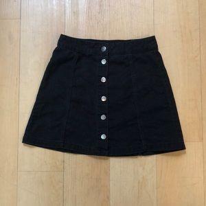 H&M Black Denim Skirt